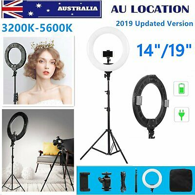 "14/19"" 3200-5600K Dimmable LED Ring Light Diffuser/Studio Light Stand Makeup Kit"