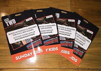 New York NY Comic Con NYCC 2019 Sunday KIDS Ticket Badge  READY TO USE