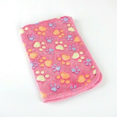 Pet Warm Mat Paw Cat Dog Puppy Soft Blanket Bed Coral Fleece Cushion 1pc New
