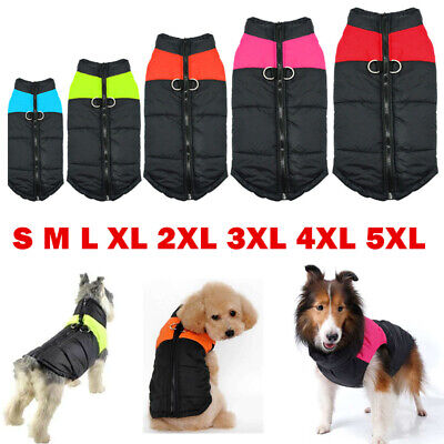 Winter Warm Dog Padded Coat Clothes Waterproof Cat Pet Jacket Vest Apparel