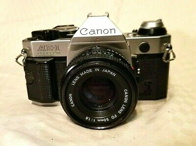 Canon AE-1 Program Camera Outfit  50mm F/1.8 Lens - WITH CASE & ACCESSORIES!