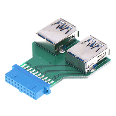 Internal Mainboard 2 Ports USB 3.0 Female to 20 Pin Female adapter Header BB