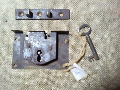 box, trunk or chest lock, 80 mm, antique (K1)