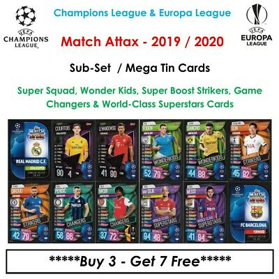 Match Attax 19 - 20: Wonderkids, Super Boost, Game Changer & World-Class (UK)
