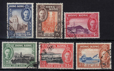 HONG KONG 1941 Centenary of British Occupation SG163/8 GU set of 6