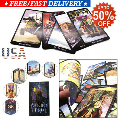 78 Witches Tarot Deck Cards Future Fate Indicator Forecasting Gift Table Game US