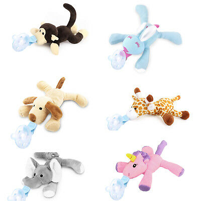Zooawa Infant Newborn Baby Soothie Pacifier BPA free,Plush Stuffed Animal Toys
