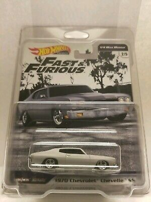 Hot Wheels 1970 PRIMER GRAY/GREY CHEVELLE SS 2019 FAST & FURIOUS PREMIUM-PROTECT
