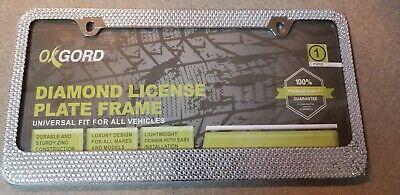 Pilot Auto WL125-C Ice License Plate Frame Crystal Bling Diamonds