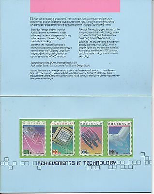 1987 Technology Set 4 in Stamp Pack complete MUH/MNH as Issued by Post Office