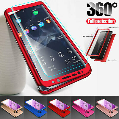 For Samsung Galaxy S8 S9 S10 Plus 360° Shockproof Hard Case Cover Screen Guard