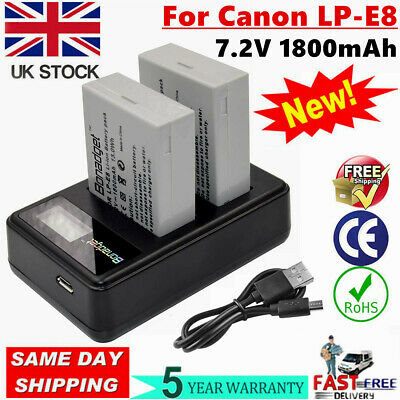 2x EN-EL14 Battery For Nikon D3300 P7100 P7700 D5100 D5200 D5300 D3100 D3200 WM