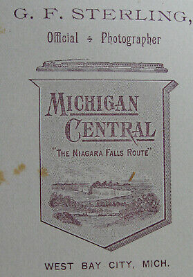 Antique Cabinet Photo Of Woman With Michigan Central Backstamp West Bay City Mi