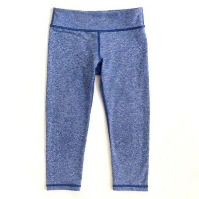 IVIVVA $48 Youth Girls Size 14 Heather Blue Reversible Cropped Leggings A4