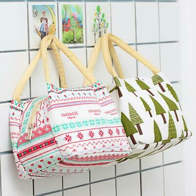 Portable Insulated Canvas Box Tote Bag Thermal Cooler Food Lunch Bag Bento Pouch