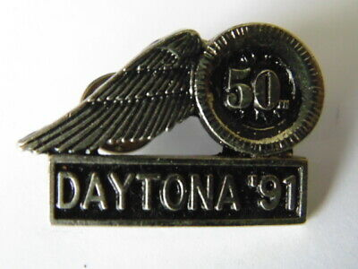 HARLEY-DAVIDSON PINS BADGE COLLECTOR HD 50th DAYTONA 1991
