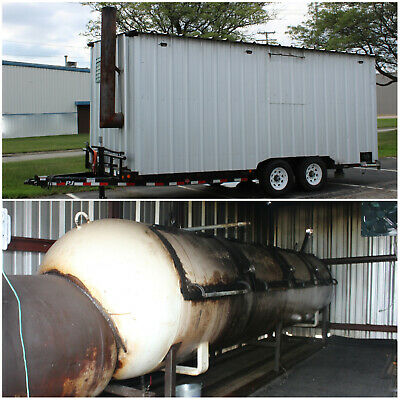 TEXAS OFFSET SMOKER with P.J. 14,000lb DUAL AXLE TRAILER COMPETITION BBQ PIT 24'