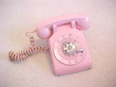 Vintage Pink Color Desk Style Dial Telephone Bell System Western Electric