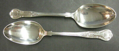 Vintage Pair Of Silver Plated Kings Pattern Serving Spoons - Epns A1 Sheffield