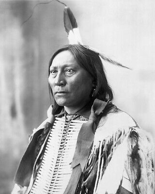 1898 Native American Indian CHIEF HOLLOW HORN BEAR 8x10 Photo Sioux Print Poster