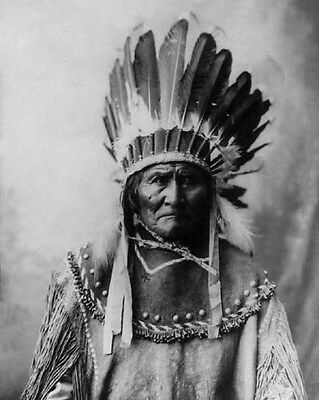 Native American Indian GERONIMO Vintage 8x10 Photo Apache Leader Print Poster