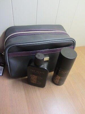 TED BAKER Mens  Bath & Body Gift Set Travel Toiletry Bag ~ New