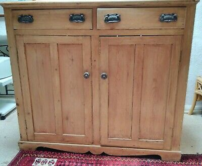 Antique Early Victorian Pine Cupboard