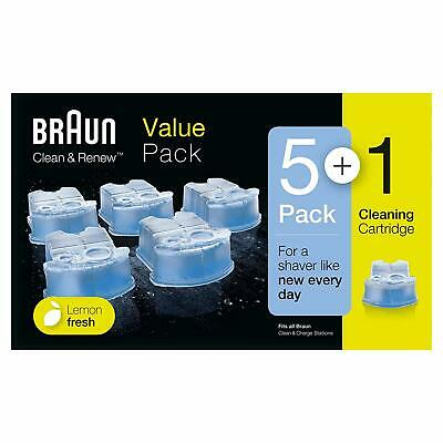Braun CCR3 Clean and Renew Mens Shaver Cleaning Refill Cartridge - PACK OF 6