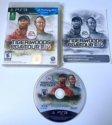 Tiger Woods PGA Tour 14 (Sony PlayStation 3, 2013) COMPLETE TESTED PS3