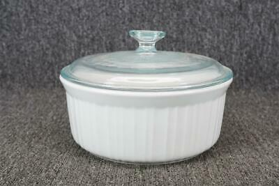 Vintage Corning Ware White 2 1/2-Qt Covered Casserole