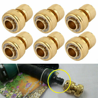 """6pc Universal Garden Watering Water Hose Pipe Tap Connector Adaptor Fitting 1/2"""""""
