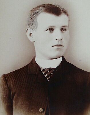 Antique Cabinet Photo Of An Exceptionally Handsome Dapper Young Man Oakland Cal