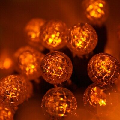Orange LED Mini Pumpkin Halloween Lights, G12 Indoor-Outdoor String Lights