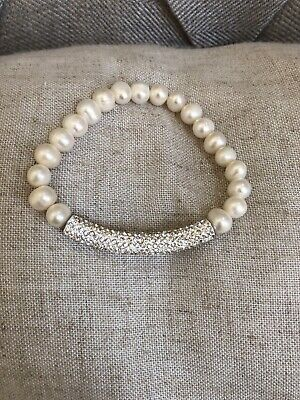 Crystal Bracelet Spirals of Sparkling White Crystals Easy Put On AD83020-5614
