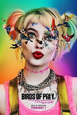 "Birds Of Prey Poster Harley Quinn Movie DC Comics Art Film Print 24x36"" 27x40"""