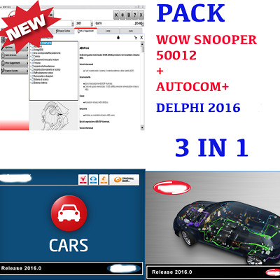 Wow Snooper 50012 + Delphi 2016 Software 2019 Multilanguage
