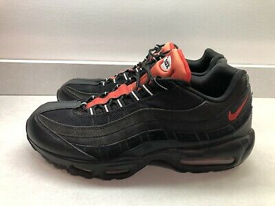 Nike Men's Air Max 95 Essential Sneakers SIZE 12 Black Red 749766 016