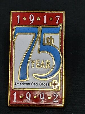 Vintage American Red Cross Pin 1917 - 1992 75th Year