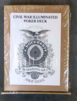 Civil War Illuminated Poker Deck Playing Cards U.s. Game Systems  - New Sealed