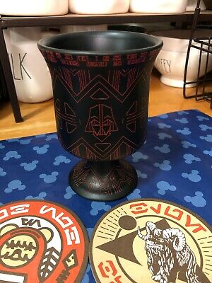 Disneyland Galaxy's Edge Star Wars Darth Vader Chalice Mug + Oga's Coasters.