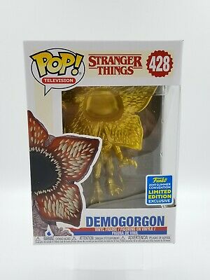 Funko Pop! Stranger Things Gold Demogorgon #428 SDCC Shared Exclusive  (0703)