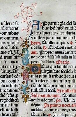Flawed Extremely rare incunabula Breviary lf.vellum,Jenson1478,.deco initials