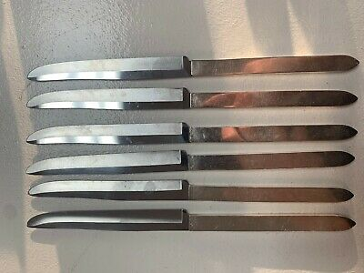 Vintage Robeson Frozen Heat Knives by Shur Edge Silver Plated Service For 6