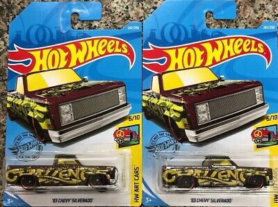 2019 Q Case- Hot Wheels '83 Chevy Silverado Art Cars ~ Lot Of 2~ New In Hand