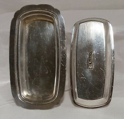 PILGRIM  SILVERPLATE BUTTER DISH W/ LID #70 and LINER