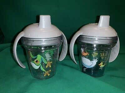 Lot Of 2 Ducks Frog Tervis Tumbler Sippy Cup Kids Toddler Glasses