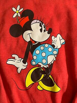 Womens Disney Parks Disneyland Red Minnie Mouse Sweater Size Small