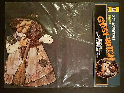 Vintage Nos Trend Gypsy Witch Halloween Die Cut Articulated Jointed Decoration