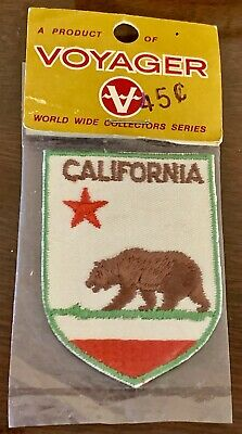 Vintage NIP 1960s-1970s Voyager California State Flag Bear Embroidered Patch