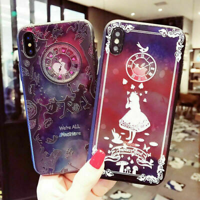Cartoon Disney Alice Wonderland Case TPU Cover For iPhone X XR XS MAX 8 7 6